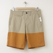 "NEW Gap Lived-In Colorblock Flat Front Shorts (10"") in Dark Chino"