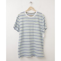 NEW Gap Lived-In Multi Stripe Pocket Tee in Green Stripe