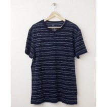 NEW Gap Striped Slub Henley T-Shirt in Navy Stripe