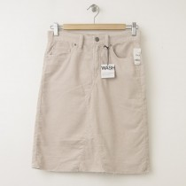 NEW Gap 1969 A-Line Denim Skirt in Silver Charm