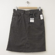 NEW Gap 1969 A-Line Denim Skirt in Graphite Grey