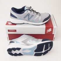 New Balance Women's 577 Cross-Trainer Shoe WX577SB in Silver with Blue