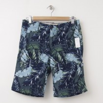 NEW GapKids Boys Palm Leaf Flat Front Shorts in Green Leaf Print