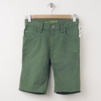 NEW GapKids Boy's 1969 Denim Cut-Off Shorts in Jungle Green