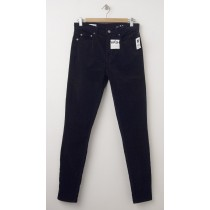 NEW Gap 1969 Always Skinny High-Rise Cords Corduroy Pants in True Black (back)