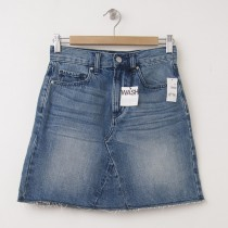 NEW Gap 1969 High Rise Raw Edge Denim Skirt in St. Louis Wash