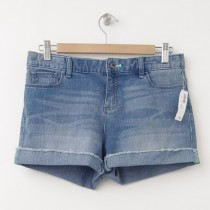 NEW Old Navy Girl's Cuffed Cut-Off Denim Shorts in Light Wash