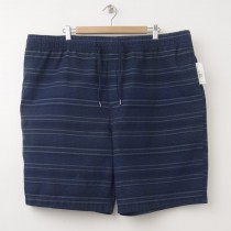 "NEW Old Navy Pull-On Striped Beach Shorts 9.5"" in Ink Blue"