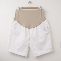 NEW Old Navy Maternity Full-Panel Denim Shorts in Bright White