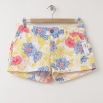 "NEW Old Navy Printed 3.5"" Twill Shorts in Multi Floral"
