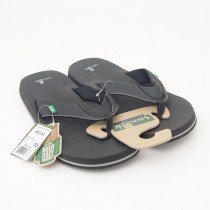 Sanuk Beer Cozy Flip-Flop Sandals SMS2839 in Black
