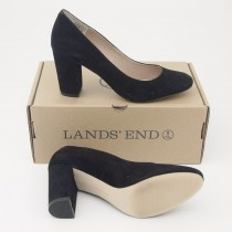 NEW Lands' End Women's Minnie Pump High Heel Shoes in Black