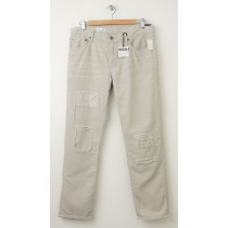 NEW Gap 1969 Destructed Sexy Boyfriend Cords Corduroy Pants in Grey Splash