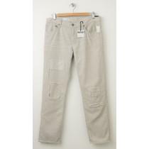 NEW Gap 1969 Destructed Sexy Boyfriend Cords Corduroy Pants in Grey Splash