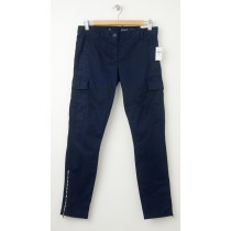 NEW Gap Skinny Mini Cargo Khaki Pants in Deep True Navy