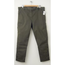 NEW Gap Skinny Mini Zip Khaki Pants in Oil Green