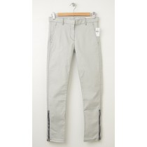NEW Gap Skinny Mini Zip Khaki Pants in Light Grey