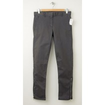 NEW Gap Skinny Mini Zip Khaki Pants in Flint Grey