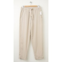 NEW Gap Drapey Tencel Track Pants in Cobblestone