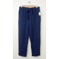 NEW Gap Drapey Tencel Track Pants in Military Blue