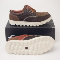 PF Flyers Hughes Leather Oxford Shoes PM14BL1A in Brown