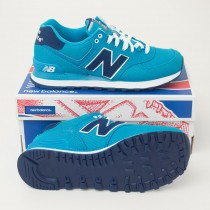 New Balance Women's Pique Polo 574 Classics Running Shoes in Teal WL574POA
