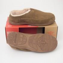 Dockers Top Stitch Mule Slippers with Memory Foam in Tan