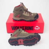 Wolverine Maggie Steel-Toe EH Lace-Up Mid Work Boot W02210WOL in Brown/Red