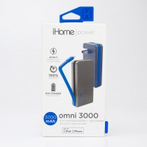 iHome Power Omni 3000 3-in-1 Portable 3000 mAh Battery & Wall Charger IH-CT4041N