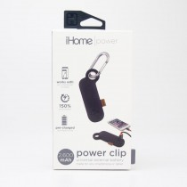 iHome Power Clip Universal External 2600 mAh Battery IH-CT4010B in Black