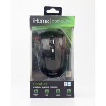 iHome Computer Comfort Wireless Optical Mouse  Black IH-M391C