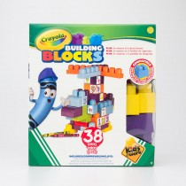 Amloid Crayola Kids at Work 38 Piece Building Block Set