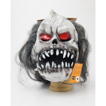Spooky Village Fright Night Light-Up Mask for Adults - Grey Hair