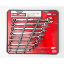 Craftsman 9 Piece Combination Wrench Set Metric 9-47239