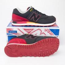 New Balance Men's Gradient 574 Classics Running Shoes ML574RAA in Black