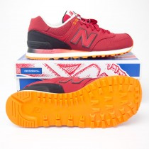 New Balance Men's Gradient 574 Classics Running Shoes ML574RAB in Red