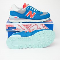 New Balance Women's Winter Harbor 574 Classics Running Shoes WL574WHB in Blue