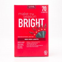 Living Solutions Red Mini Lights 70 Lights