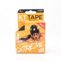 """KT Tape Pro Extreme Elastic Sports Tape Jet Black 10"""" Precut 20 Strips"""