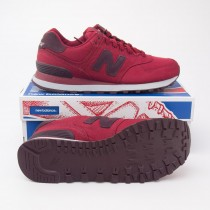 New Balance Men's Canvas 574 Classics Running Shoes ML574MDA in Biking Red
