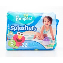 Pampers Splashers Sesame Street Disposable Swim Pants Size 5 (30-40lbs) Pack of 22