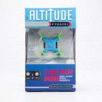 Propel RC Altitude 2.4Ghz Micro Drone Indoor/Outdoor Wireless Quadrocopter - Light Blue with Green