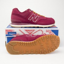 New Balance Men's Outdoor 574 Classics Running Shoes ML574HRA in Sedona Red