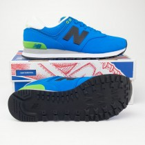 New Balance Men's Paint Chip 574 Classics Running Shoes ML574ACA in Sonar Blue