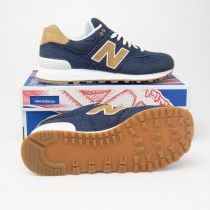 New Balance Women's Canvas 574 Classics Running Shoes WL574CDB in Pigment