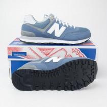 New Balance Women's Core Plus 574 Classics Running Shoes WL574CC Deep Porcelain Blue