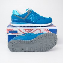 New Balance Women's Outdoor Festival 574 Classics Running Shoes WL574TXB in Vivid Ozone Blue