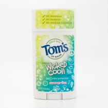 Tom's of Maine Natural Wicked Cool! Deodorant for Girls Summer Fun 2.25 oz