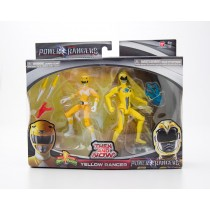 Bandai Mighty Morphin Power Rangers Then and Now Yellow Ranger #42640