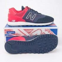 New Balance Men's Re-Engineered 574 Classics Running Shoes MTL574CC in Navy